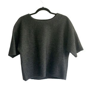 LORD & TAYLOR Wool Cropped Short Sleeve Sweater S